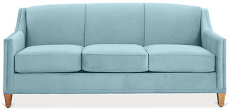 One Kings Lane Erin Sleeper Sofa - Light Blue Crypton