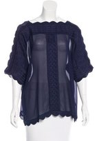 Isabel Marant Embroidered Woven Top