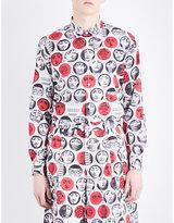 Comme Des Garcons Fornasetti-print Cotton Shirt
