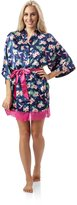 Ashford & Brooks Women's Satin Short Kimono Robe