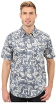 True Grit Summertime Mai Tai Short Sleeve Shirt Combed Cotton w/ Stitch Detail