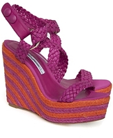 Brian Atwood Braided Wedge Espadrille