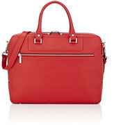 Barneys New York MEN'S DOUBLE-HANDLE BRIEFCASE-RED