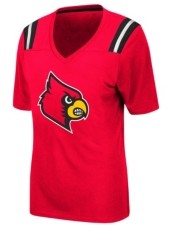 Colosseum Women's Louisville Cardinals Rock Paper Scissors T-Shirt