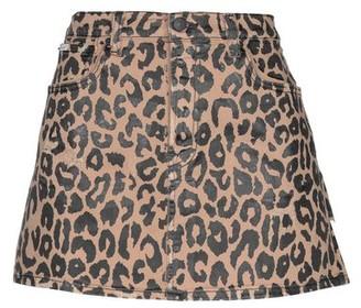 (+) People Denim skirt