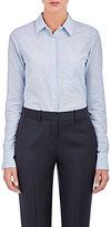 Barneys New York Women's Striped Slub-Weave Shirt-WHITE, BLUE