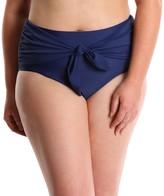 LYSA Navy Front Tie Bikini Swim Bottom Plus Size - Barbie B