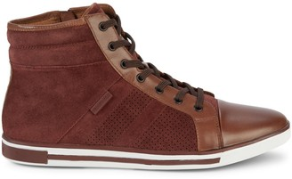 Kenneth Cole New York Initial Move Leather High-Top Sneakers