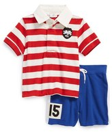 Ralph Lauren Rugby Polo & Shorts (Baby Boys)
