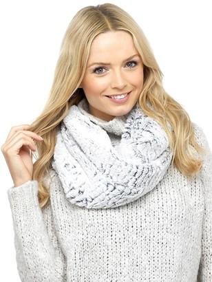Foxbury Ladies Luxury Fake Faux vegan fur snood Soft Warm Winter Gift Scarf (Beige Multi)