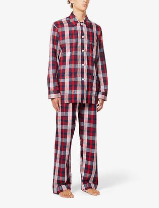 Derek Rose Ranga brushed cotton pyjama set