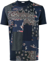 Moncler bandana patchwork t-shirt - men - Cotton - S