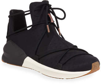 Puma Mesh and Suede Fierce Rope Sneakers