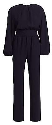 Carolina Ritzler Women's Belted Billow Long-Sleeve Jumpsuit