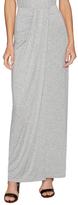 Three Dots Front Wrap Maxi Skirt