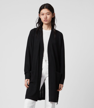 AllSaints Cross Merino Wool Cardigan