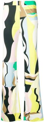 Emilio Pucci Vallauris Print Flared Trousers