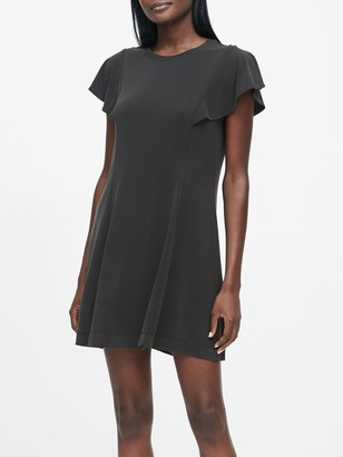 Banana Republic Petite Sandwash Modal Flutter-Sleeve Dress