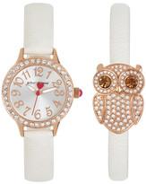 Betsey Johnson Women&s Owl Crystal Fashion Watch