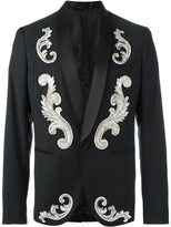 Christian Pellizzari embroidered applique smoking jacket