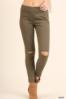 Umgee USA Knee Cut Jeggings