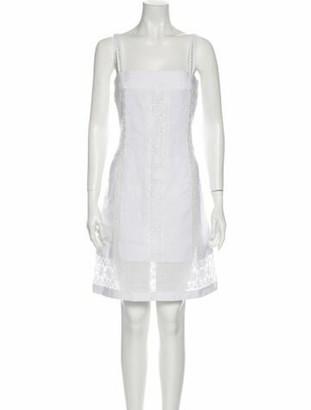 Dolce & Gabbana Linen Knee-Length Dress White
