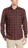 Izod Men's Long Sleeve Saltwater Twill Easy Care Plaid Shirt