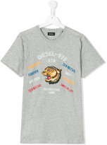 Diesel teen tiger print T-shirt