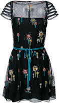 RED Valentino embroidered tie detail dress