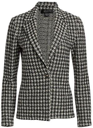 St. John Textured Boucle Houndstooth Jacket