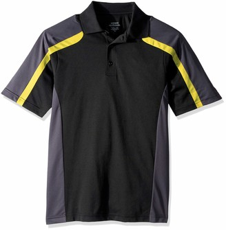Ashe Xtream Men's Performance Strike Colorblock Snag Protection Short Sleeve Polo Shirt