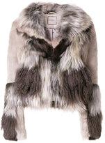 Urban Code Urbancode patchwork faux fur jacket