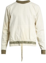 Longjourney Nash back-zip cotton-canvas sweatshirt