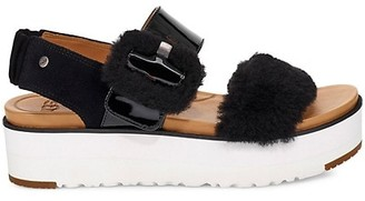 UGG Le Fluff Patent Leather, Suede UGGpure Sandals