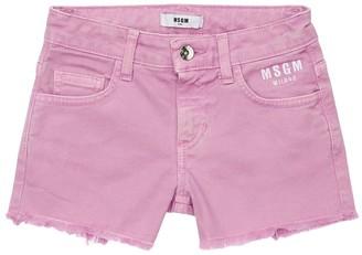 MSGM Stretch Denim Shorts