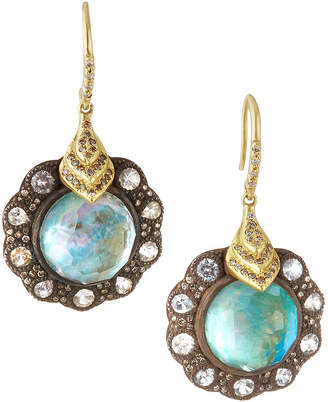 Armenta Old World Peruvian Opal Triplet Drop Earrings with Diamonds