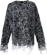 ADAM by Adam Lippes frayed looped stitch jumper