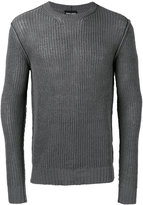 Giorgio Armani ribbed detail jumper - men - Cotton - 50