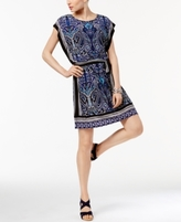 INC International Concepts Petite Printed Blouson Dress, Created for Macy's