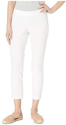Eileen Fisher Petite Slim Ankle Pants (Bone) Women's Casual Pants