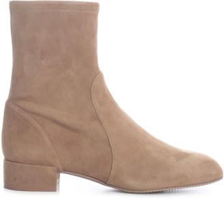 Stuart Weitzman Suede Ankle Boots Heel 2,5