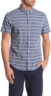 Original Penguin Short Sleeve Stripe Print Trim Fit Shirt