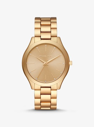 Michael Kors Slim Runway Gold-Tone Aluminum Watch
