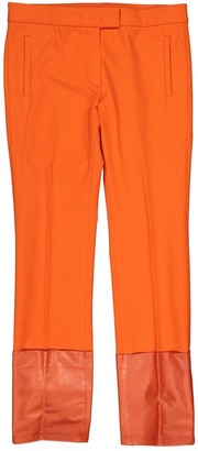 Joseph Orange Cotton Trousers