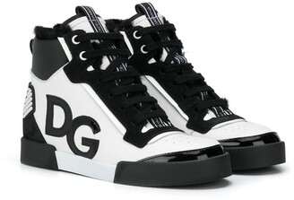 Dolce & Gabbana Kids Portofino Light high-top sneakers