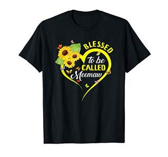 Womens Blessed To Be Called Meemaw Sunflower T-Shirt