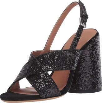 Emporio Armani Women's Metallic High Block Heel Heeled Sandal