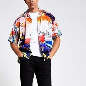 River Island Jaded London white print regular fit shirt