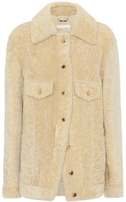 Chloã© Shearling shirt jacket