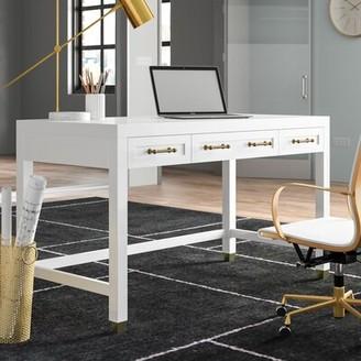 Everly Quinn Skelmersdale 3 Drawer Desk Quinn